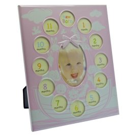 First Year Photo Frame Pink