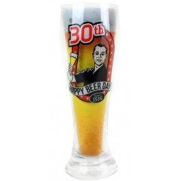 30th Beer Glass