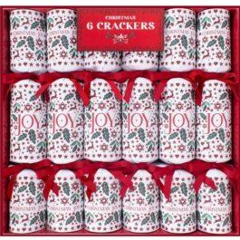 6 Christmas Joy Crackers