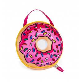 Big Mouth Pink Donut Lunch Bag