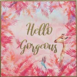Square Card 'Hello Gorgious' – Sahara