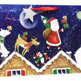 COMING SOON- Extra Large Shopper Bag Santa Roof Tops