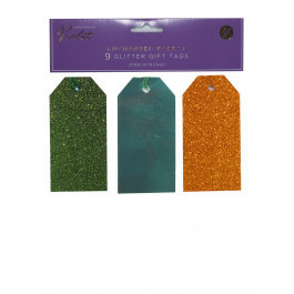 9 Pack Glitter Tags Enchanted Forest