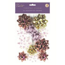 12 Bow Pack Christmas Sparkle