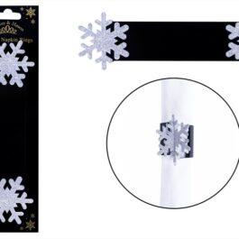 Napkin Rings 6 Silver Snowflake
