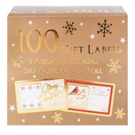100 Gift Labels Traditional