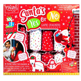 6 Santa's Yes or No Game Crackers