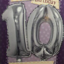 Balloon Card – Age 10