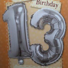 Balloon Card – Age 13