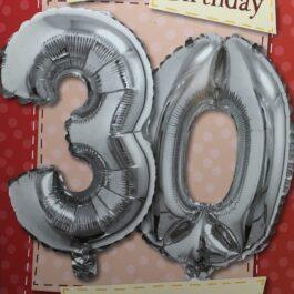 Balloon Card – Age 30