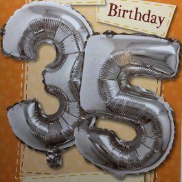 Balloon Card – Age 35