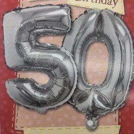 Balloon Card – Age 50