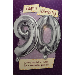 Balloon Card – Age 90