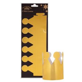 6 Party Crown Gold Foil