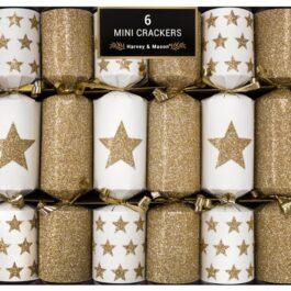 6 Mini Gold Star Crackers